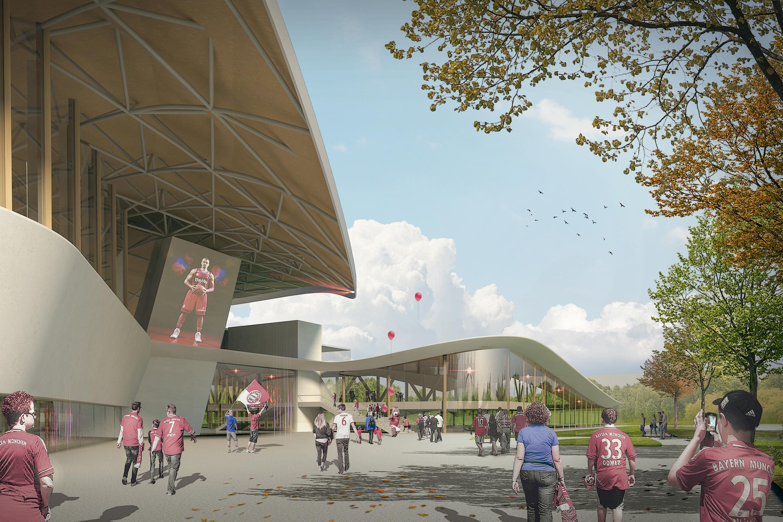 Sportarena im Olympiapark München, Berger+Parkkinen Associated Architects