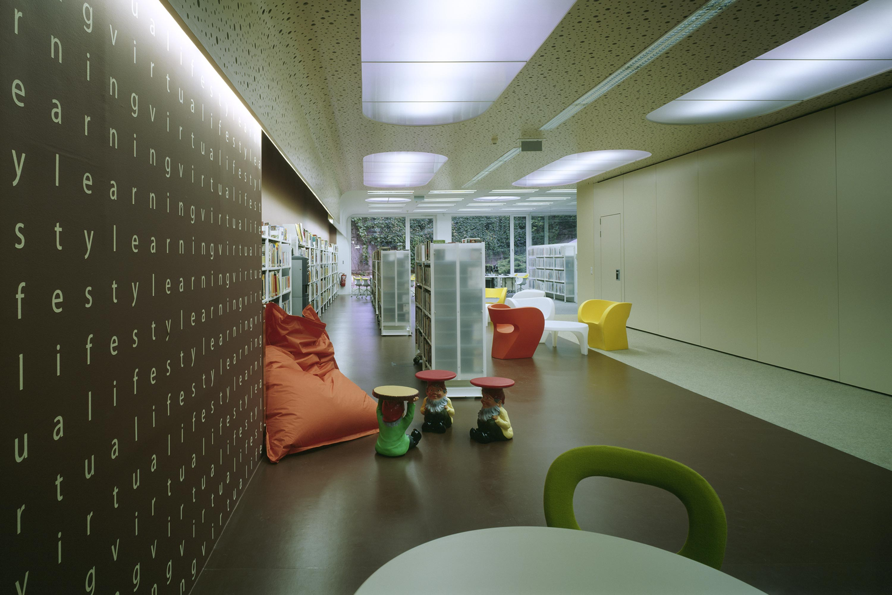 British Council Austria, Lifestyle Zone. Foto: Gerald Zugmann | Berger+Parkkinen Architekten