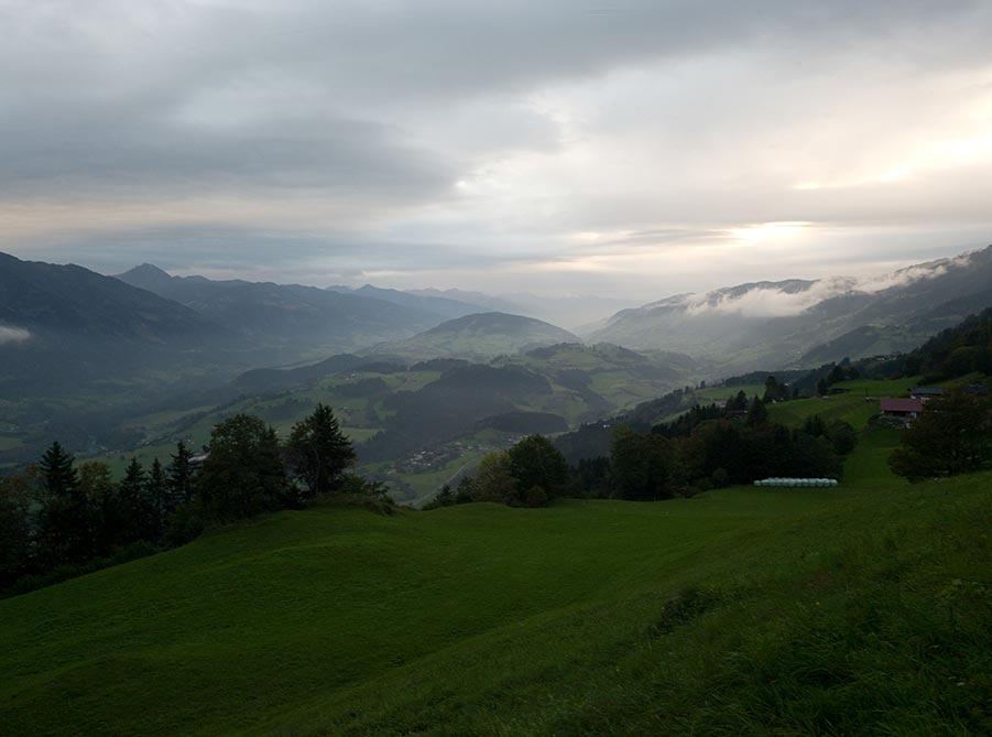 Bergwelt im Salzburger Land. Foto: Berger+Parkkinen Architekten