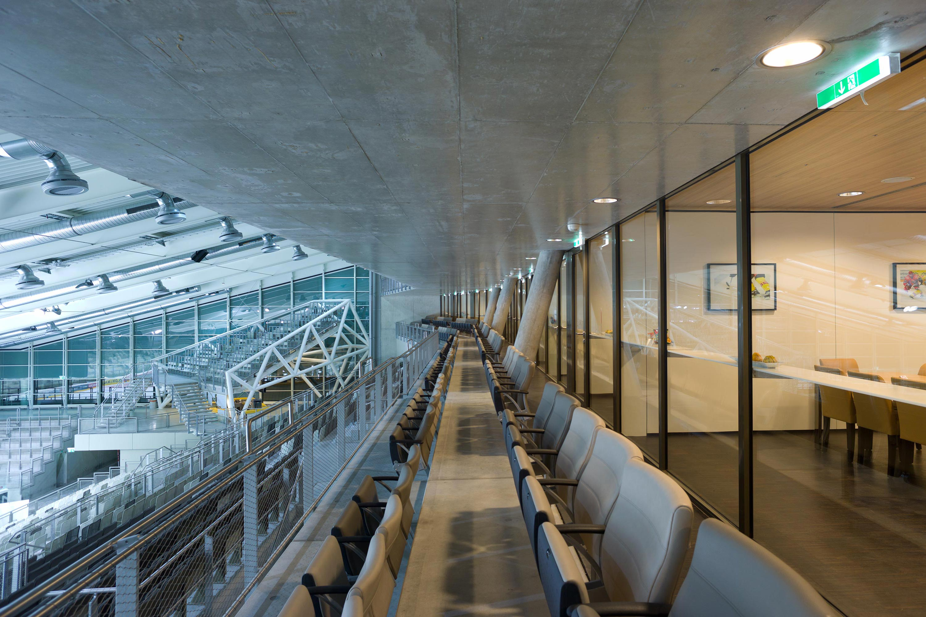 Erste Bank Arena, hall 1 with VIP area. Photo: Berger+Parkkinen Architekten