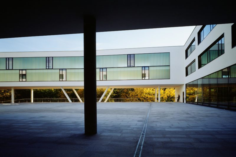 University of Applied Sciences, Hagenberg, campus. Photo: Gerald Zugmann | Berger+Parkkinen Architekten