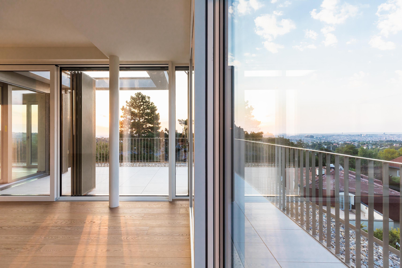 Penthouse in der Stadtvilla PH 35. Foto: Daniel Hawelka | Berger+Parkkinen Architekten
