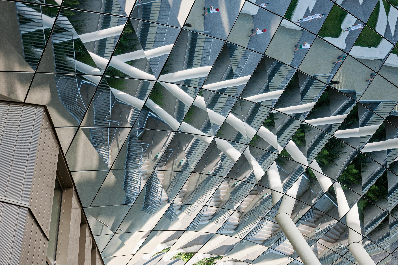 Stadtwerk Life Sciences Campus, verspiegelte Untersicht. Foto: Hertha Hurnaus | Berger+Parkkinen Architekten