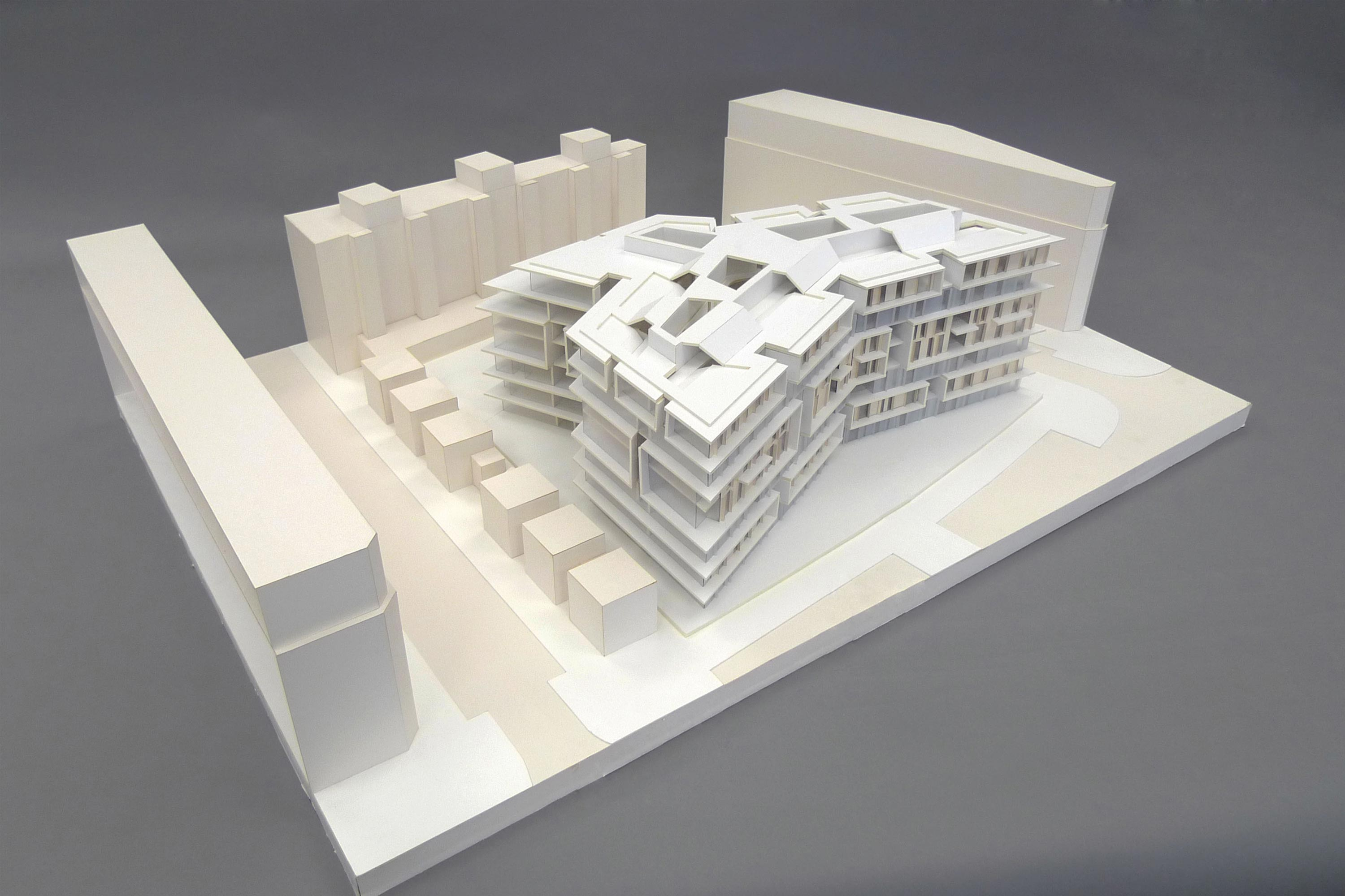 Housing Ypsilon, model. Berger+Parkkinen Architekten