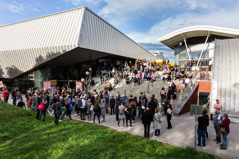 Eröffnungswochende der Wiener Festwochen in der Erste Bank Arena. Foto: Elodie Grethen  | Berger+Parkkinen Architekten
