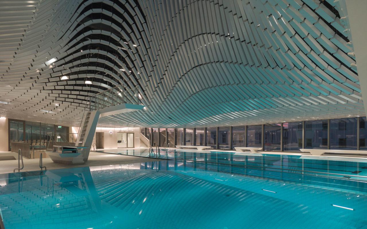 Badeebene im Paracelsus Bad & Kurhaus in Salzburg. Foto: Berger+Parkkinen Architekten