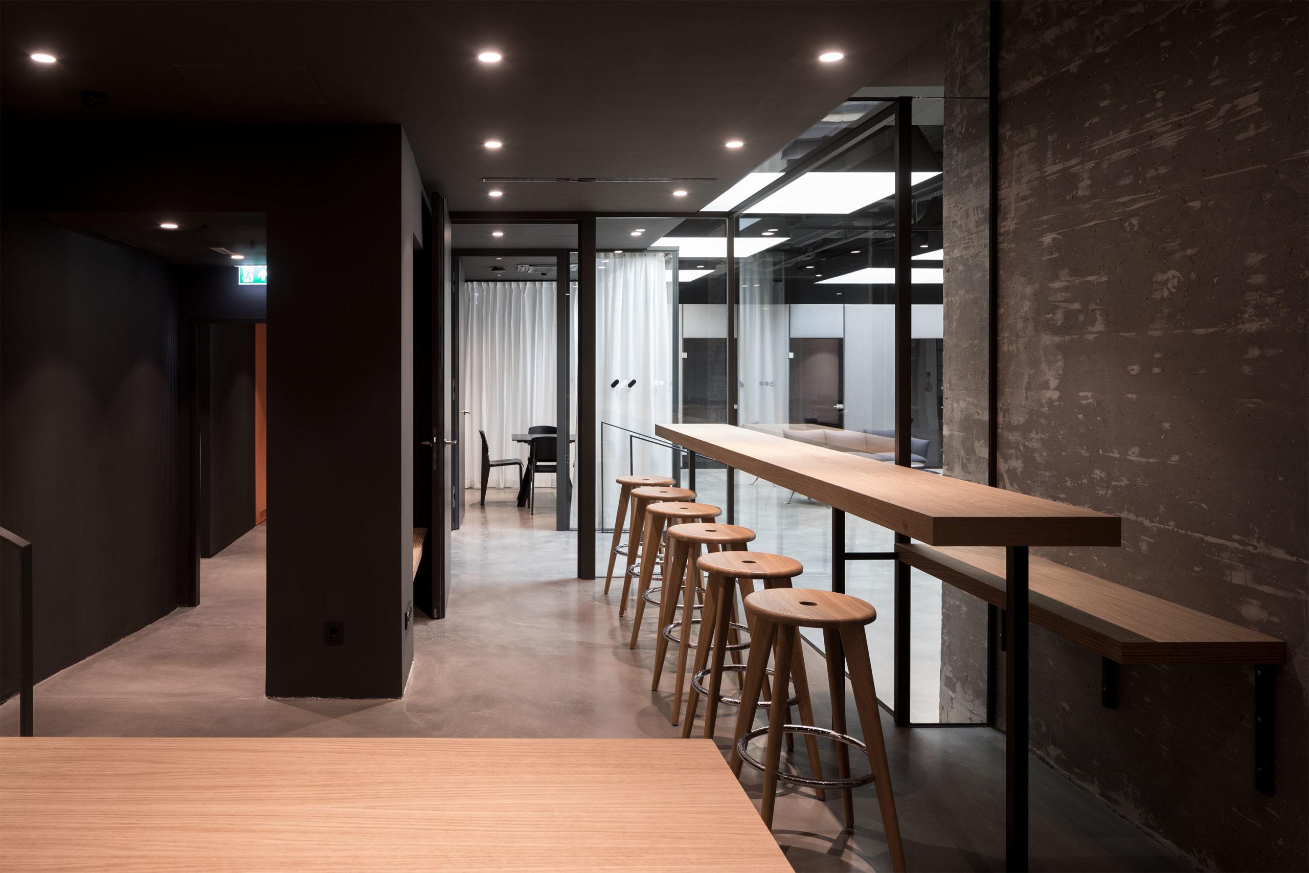 Addendum Editorial and TV-Studio, Lounge. Photo: Wolfgang Thaler | Berger+Parkkinen Architekten