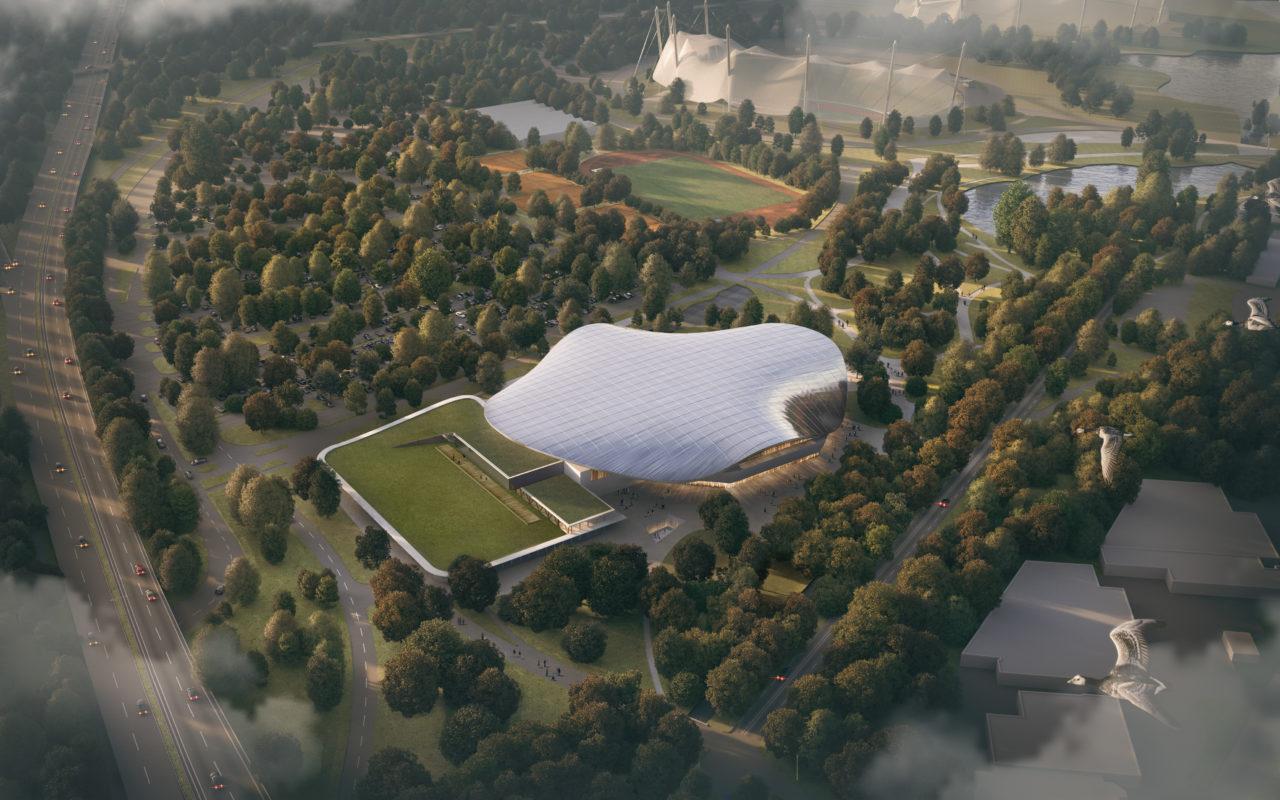 Sportarena im Olympiapark München, Berger+Parkkinen Architekten